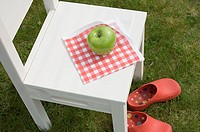 Apple on a chair