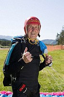 Senior adult parachutist