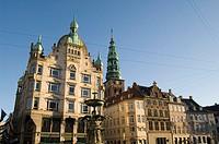 denmark, copenhagen, hojbroro square on stroget