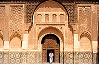 Morocco, Marrakesh, the medersa Ben Youssef (Koranic school)