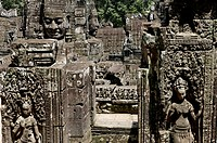 Ta Prohm temple, mid XIIth century, early XIIIth century AD. Buddhist. Temples of Angkor. Siem Reap area. Kingdom of Cambodia.