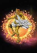 The god Hephaistos