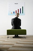 Businessman Examining Bar Graph (thumbnail)