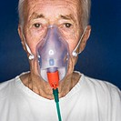 Elderly Patient Wearing Oxygen Mask