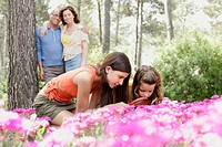 Family Enjoying the Forest