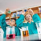 High School Students in Chemistry Class