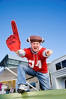 Cheering Football Fan