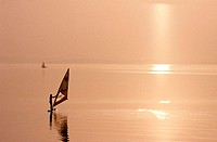 Windsurfer, Chiemsee, Bavaria, Germany