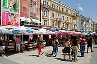 Knaz Alexander street. City centre. Plovdiv. Bulgaria.