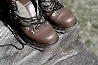 Close-up of a pair of wading boots