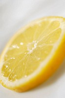 Close-up of a slice of lemon