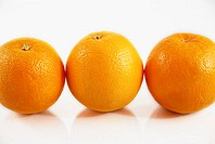 Close-up of three oranges (thumbnail)