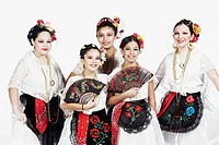 Portrait of a group of female dancers