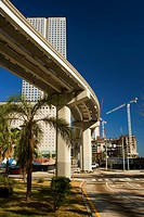 Low angle view of an elevated road, Miami, Florida, USA