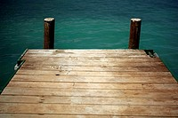 High angle view of a pier