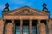Facade of a building, The Reichstag, Berlin, Germany