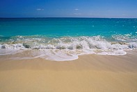 Seascape from a beach , St. Martin, Leewards Islands, Caribbean