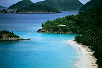 Aerial view of Trunk Bay, St. John, Virgin Islands