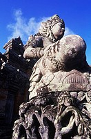 Low angle view of a statue in front of a temple, Bali, Indonesia