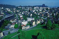 High angle view of a cityscape, Lucerne, Switzerland