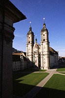 Facade of a cathedral, St. Gallen Cathedral, St. Gallen Canton, Switzerland
