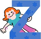 A kid with the letter Z