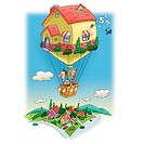 A family living in a hot air balloon house