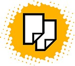 Drawing of documents on yellow background (thumbnail)