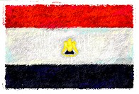 Drawing of the flag of Egypt