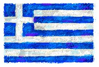 Drawing of the flag of Greece