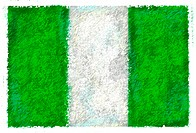 Drawing of the flag of Nigeria