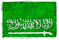 Drawing of the flag of Saudi Arabia