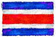 Drawing of the flag of Thailand