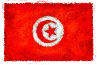 Drawing of the flag of Tunisia