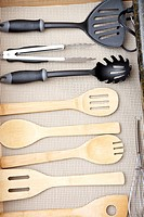 Kitchen Cooking Utensils in Drawer