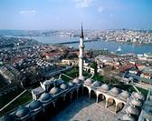 Suleymaniye Mosque. Golden Horn bay. Turkey. Istanbul. Asia.