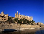Cathedral, Sa, Peu, Palma, de, Mallorca, Majorca, Balearic, Islands, Spain,