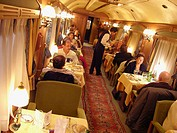 Dinning Room Car Of The Transcantabrico Cruise Train