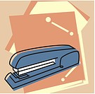 Stapler and file folders