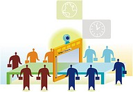 Illustration of web conferencing