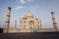 Low angle view of a mausoleum, Taj Mahal, Agra, Uttar Pradesh, India (thumbnail)