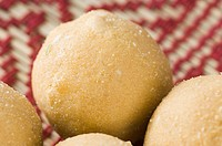 Close-up of four bean Ladoos (thumbnail)