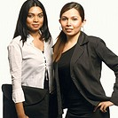 Portrait of two businesswomen standing together (thumbnail)