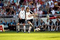 SG Sport, Fußball, Confederations Cup 2005, Gruppenspiel, Deutschland gegen Tunesien 3:0, Stadion Köln, Deutschland, 18 06 2005, Spielszene mit Torste...
