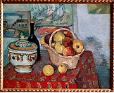 fine arts, Cezanne, Paul 19 1 1839 - 22 10 1906, painting, Still life with Soup Tureen, Nature Morte a la Soupiere, circa 1877, 82x65 cm, oil on canva...