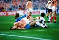 SG Sport hist , Fußball, Europameisterschaft, EM 1988, Halbfinale, Deutschland gegen Niederlande 1:2, in Hamburg, Deutschland, 21 06 1988, Spielszene ...