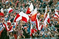 SG Sport hist , Fußball, Weltmeisterschaft, WM 1974, WM Endrunde, Gruppenspiel, Polen gegen Argentinien, 3:2 in Stuttgart, Deutschland, 15 6 1974, pol...
