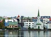 Buildings at waterfront, Reykjavik, Iceland