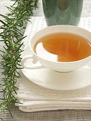 Close_up of cup of black tea