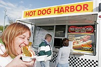 Hot Dog Harbor. Winthrop Harbor. Illinois. USA.